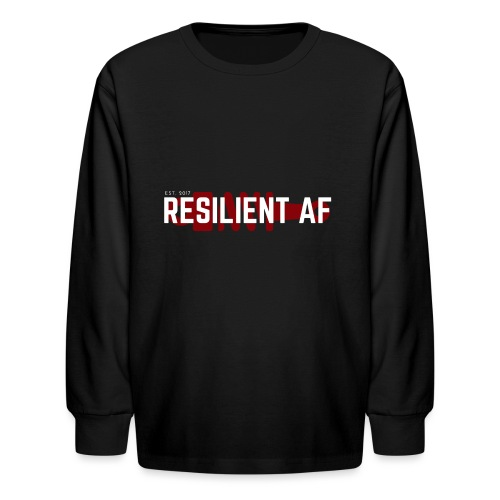 RESILIENT WHITE with red - Kids' Long Sleeve T-Shirt