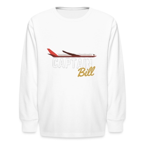 Captain Bill Avaition products - Kids' Long Sleeve T-Shirt