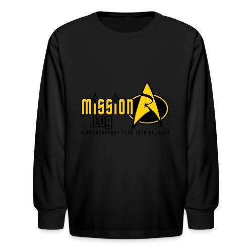 Logo Wide 2 Color Black Text - Kids' Long Sleeve T-Shirt
