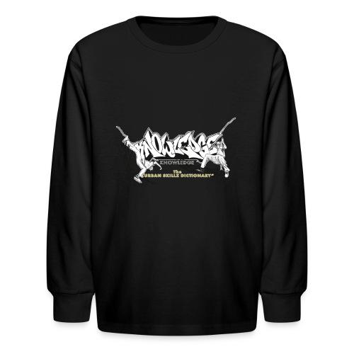 KNOWLEDGE - the urban skillz dictionary - promo sh - Kids' Long Sleeve T-Shirt