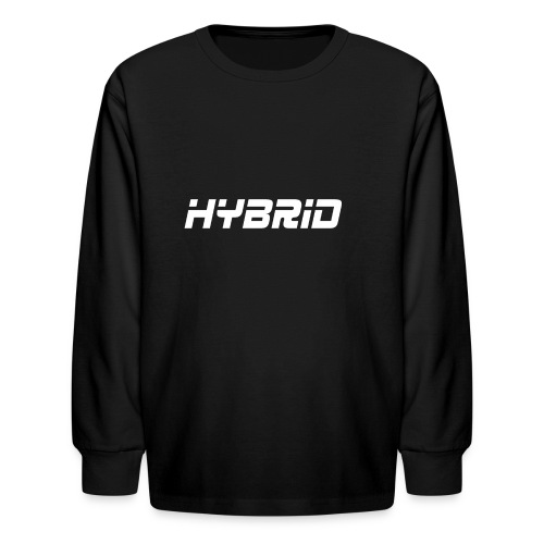 Hybrid Black Hoodie - Kids' Long Sleeve T-Shirt
