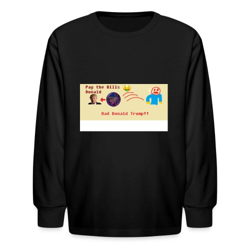 donald trump gets hit with a ball - Kids' Long Sleeve T-Shirt