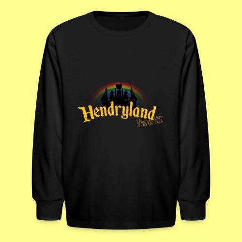 HENDRYLAND logo Merch - Kids' Long Sleeve T-Shirt