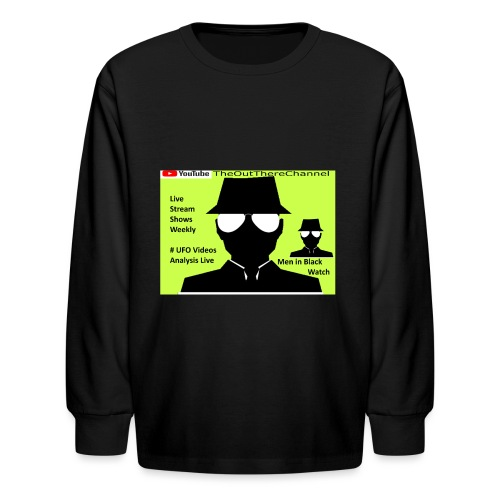 Mib 2 Men with Back Crew Logo - Kids' Long Sleeve T-Shirt