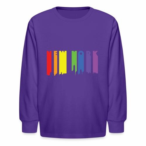 New York design Rainbow - Kids' Long Sleeve T-Shirt