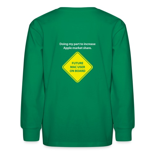 macuseronboard - Kids' Long Sleeve T-Shirt