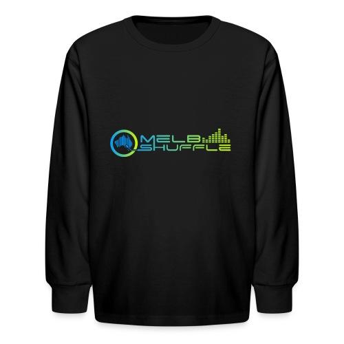 Melbshuffle Gradient Logo - Kids' Long Sleeve T-Shirt