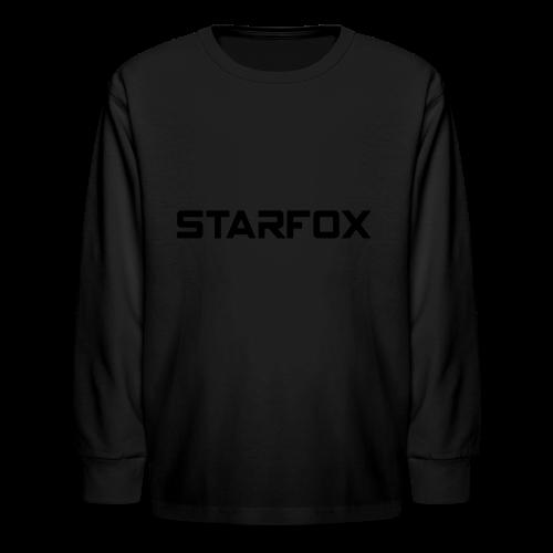 STARFOX Text - Kids' Long Sleeve T-Shirt