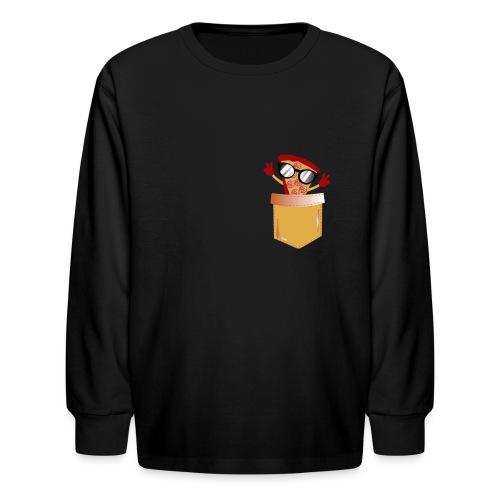Pizza Lover pocket - Kids' Long Sleeve T-Shirt