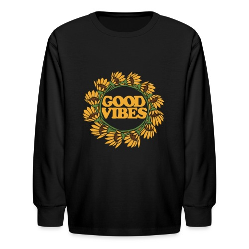 good vibes - Kids' Long Sleeve T-Shirt