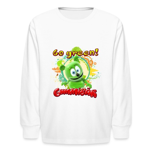 Gummibär Go Green Earth Day Trees - Kids' Long Sleeve T-Shirt