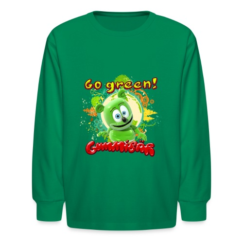 Gummibär Go Green Earth Day Trees - Kids' Long Sleeve T-Shirt