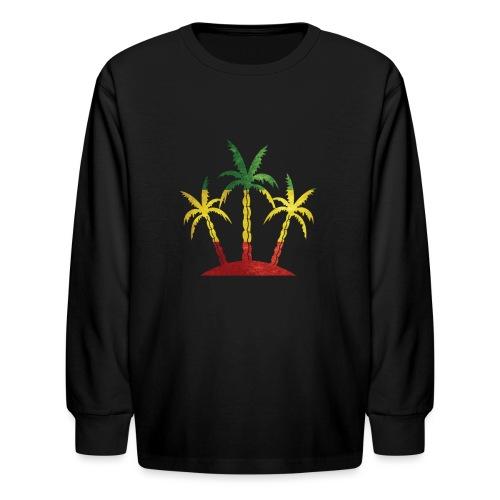 Palm Tree Reggae - Kids' Long Sleeve T-Shirt