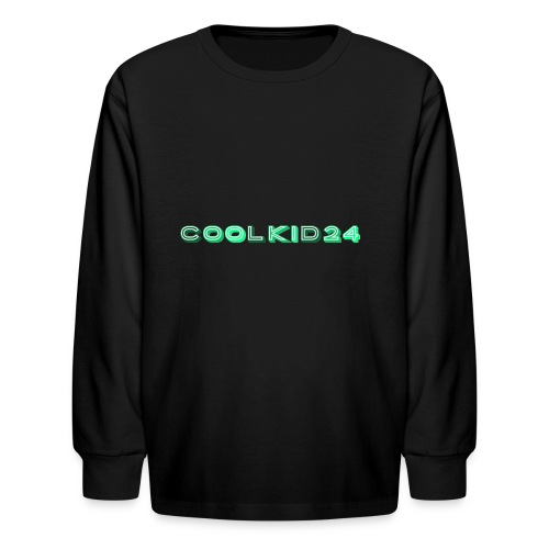 Cool kid 24 design - Kids' Long Sleeve T-Shirt