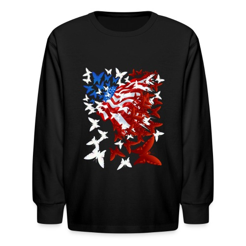 The Butterfly Flag - Kids' Long Sleeve T-Shirt
