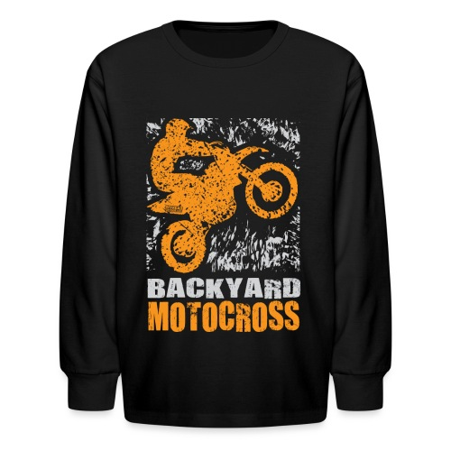 Motocross Backyard Orange - Kids' Long Sleeve T-Shirt