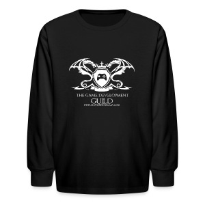 White Game Development Guild Crest - Kids' Long Sleeve T-Shirt