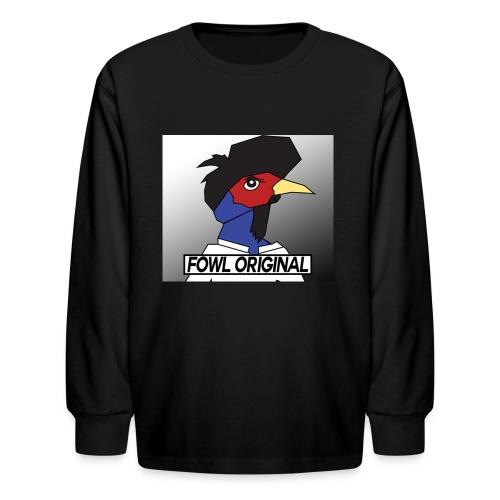 Fowl Original Logo - Kids' Long Sleeve T-Shirt