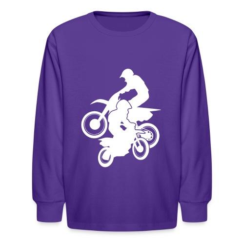 Motocross Dirt Bikes Off-road Motorcycle Racing - Kids' Long Sleeve T-Shirt