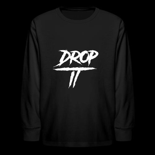 DROP IT Original Logo - Kids' Long Sleeve T-Shirt
