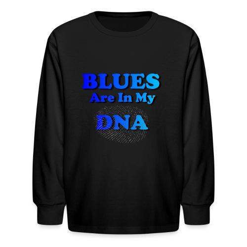 Blues DNA - Kids' Long Sleeve T-Shirt