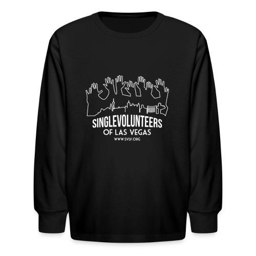 White logo SVLV - Kids' Long Sleeve T-Shirt