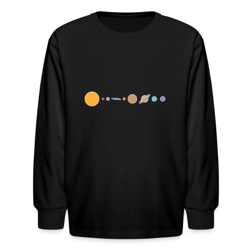 Flat earth conspiracy theory humor illustration - Kids' Long Sleeve T-Shirt