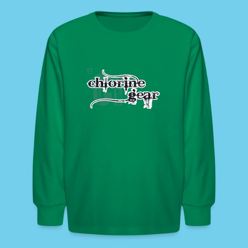 Chlorine Gear Textual stacked Periodic backdrop - Kids' Long Sleeve T-Shirt