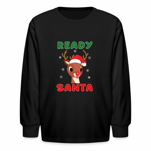 Rudolph Red Nose Reindeer Christmas Snowflakes. - Kids' Long Sleeve T-Shirt