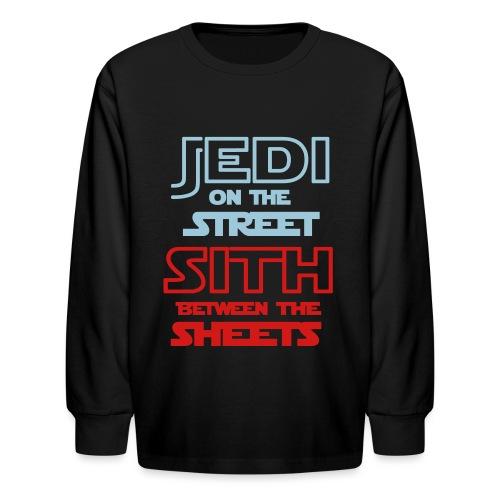 Jedi Sith Awesome Shirt - Kids' Long Sleeve T-Shirt