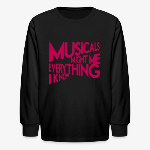 MTMEIK Pink Logo - Kids' Long Sleeve T-Shirt