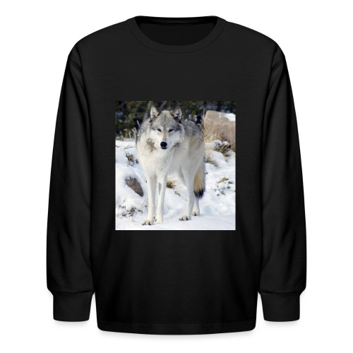 Canis lupus occidentalis - Kids' Long Sleeve T-Shirt