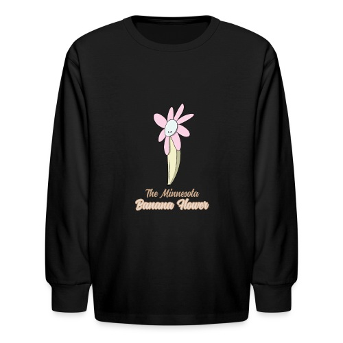 The Minnesota Banana Flower - Kids' Long Sleeve T-Shirt
