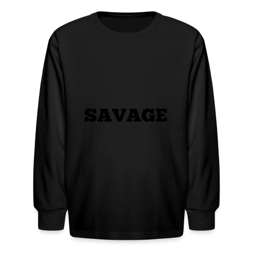 Kids savage merchandise - Kids' Long Sleeve T-Shirt