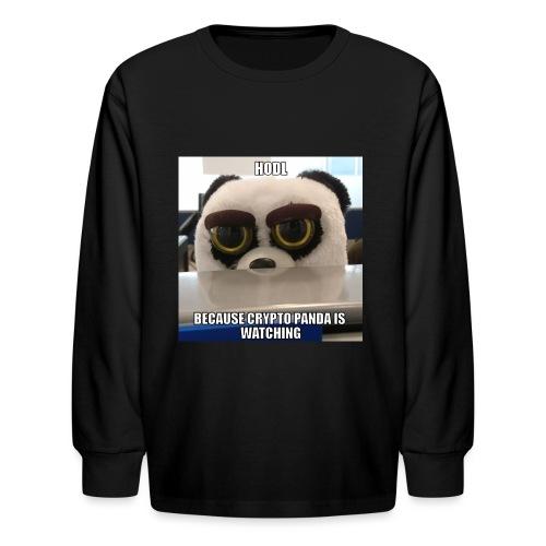Crypto Panda Is Watching - Kids' Long Sleeve T-Shirt