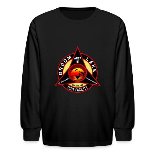 THE AREA 51 RIDER CUSTOM DESIGN - Kids' Long Sleeve T-Shirt
