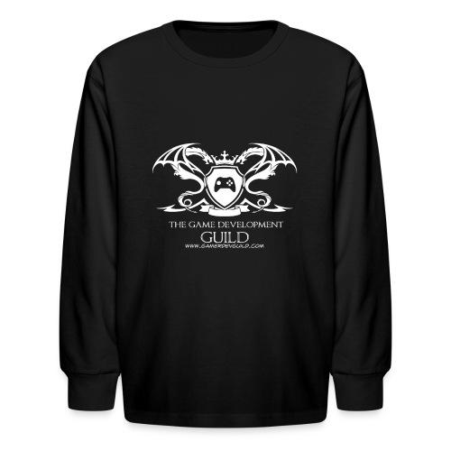 White Game Development Guild Crest - Kids' Long Sleeve T-Shirt