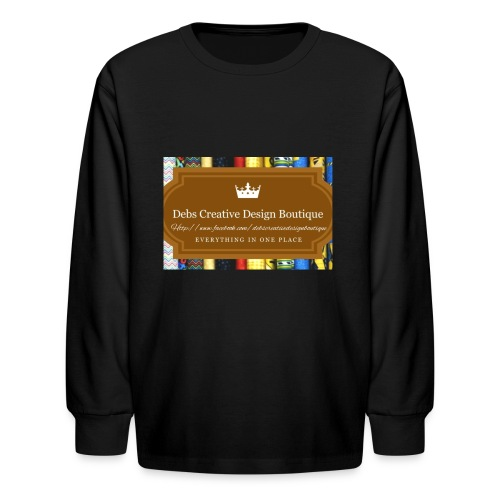 Debs Creative Design Boutique with site - Kids' Long Sleeve T-Shirt