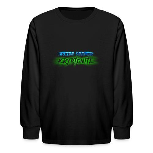 Karbs Are My Kryptonite - Kids' Long Sleeve T-Shirt