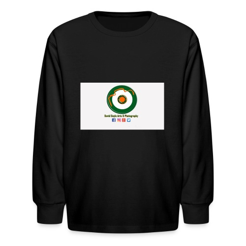 David Doyle Arts & Photography Logo - Kids' Long Sleeve T-Shirt