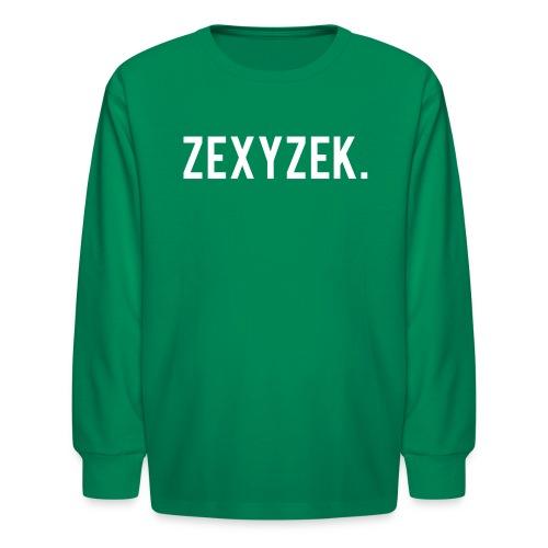 ZexyZekPeriod png - Kids' Long Sleeve T-Shirt