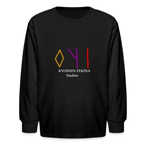 Kyoshin-Tekina Studios logo (white text) - Kids' Long Sleeve T-Shirt