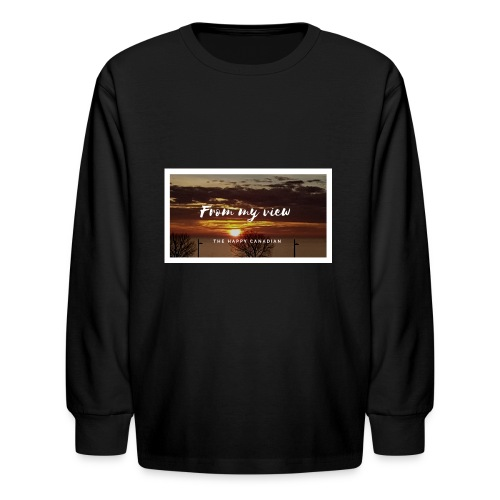 THE HAPPY CANADIAN - Kids' Long Sleeve T-Shirt