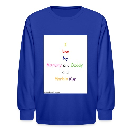 Hi I'm Ronald Seegers Collection-What I love - Kids' Long Sleeve T-Shirt