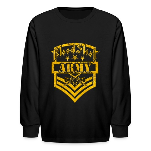 BloodShot ARMY Logo - Kids' Long Sleeve T-Shirt