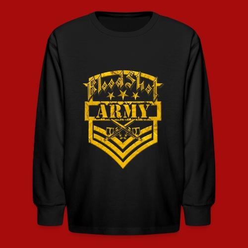 BloodShot ARMY Logo - Kids' Long Sleeve T-Shirt