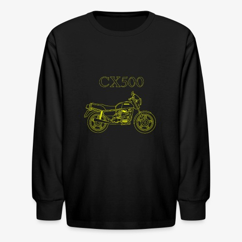 CX500 line drawing - Kids' Long Sleeve T-Shirt