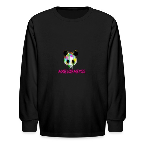 Axelofabyss panda panda paint - Kids' Long Sleeve T-Shirt