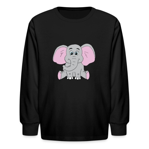 Cute Baby Elephant - Kids' Long Sleeve T-Shirt