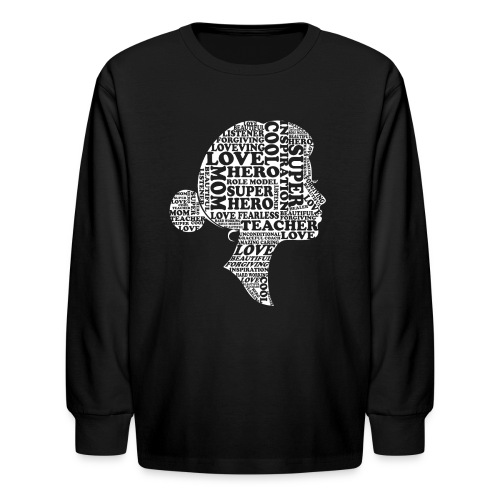 Mother Definition, Teacher Mom, Great Teacher Mom - Kids' Long Sleeve T-Shirt
